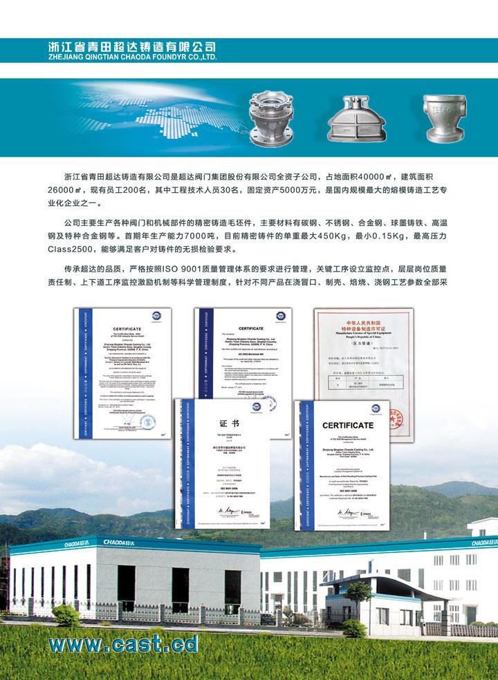 浙江省青田超达铸造有限公司